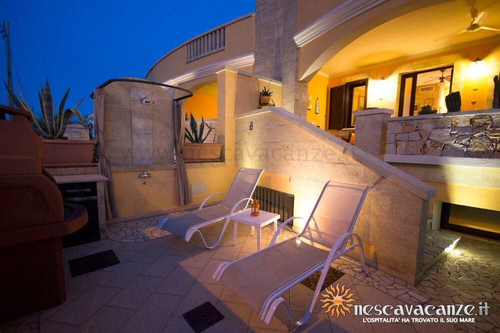 Veranda di notte casa Pescoluse 5