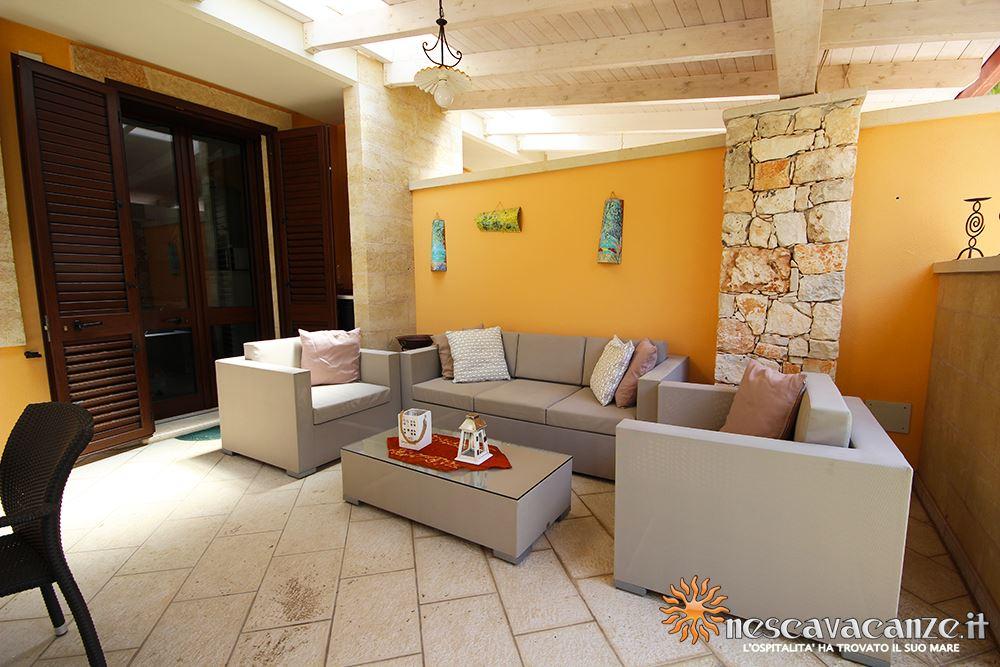 Veranda attrezzata casa Pescoluse 7