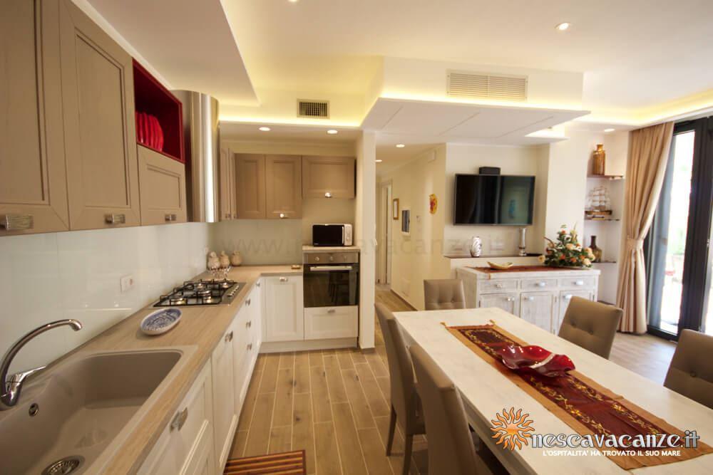 Cucina attrezzata casa Dune