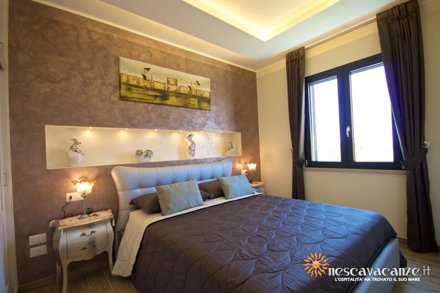 45: Casa Giglio Pescoluse camera matrimoniale 1