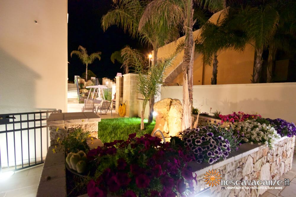 Giardino di notte casa Salento